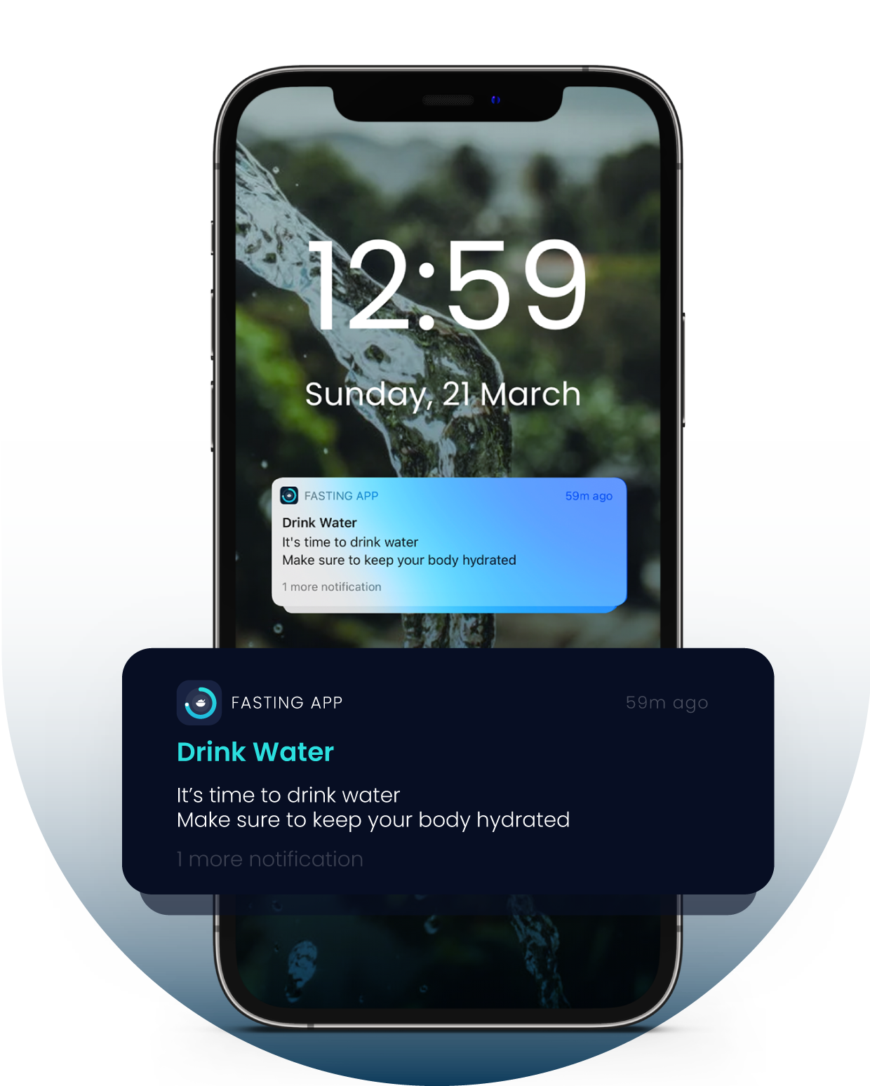 Drink Water Notification from Water Drinking Assistant of Fasting App