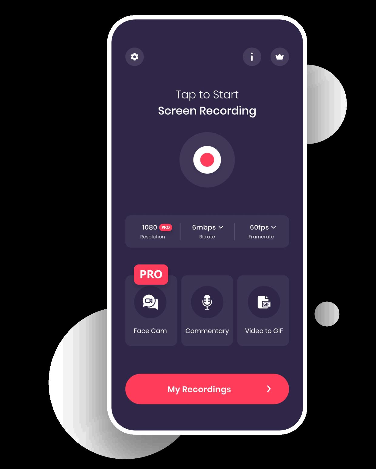 Premium Features of Screen Recorder app for iPhone