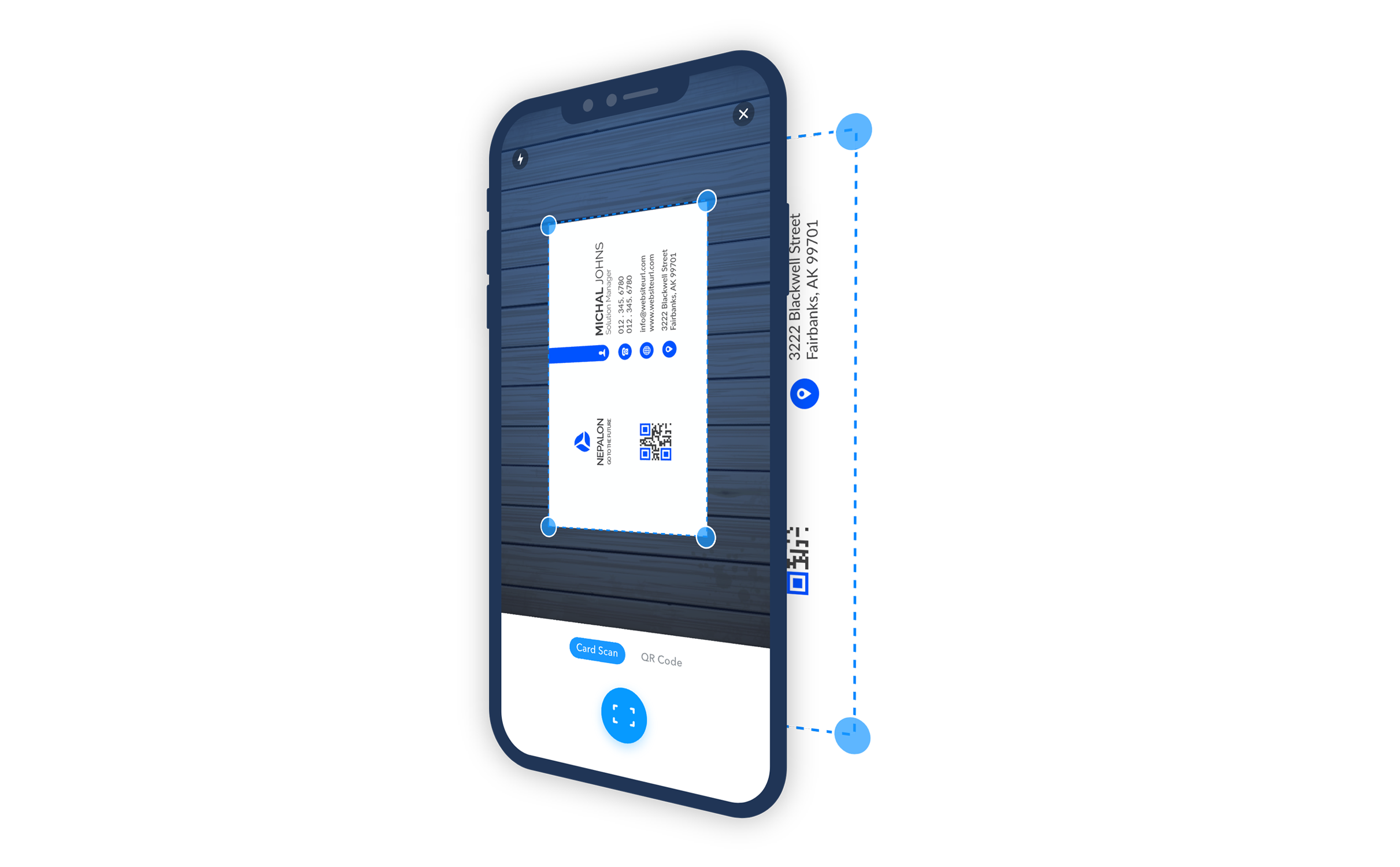 Business card scanner app for iPhone
