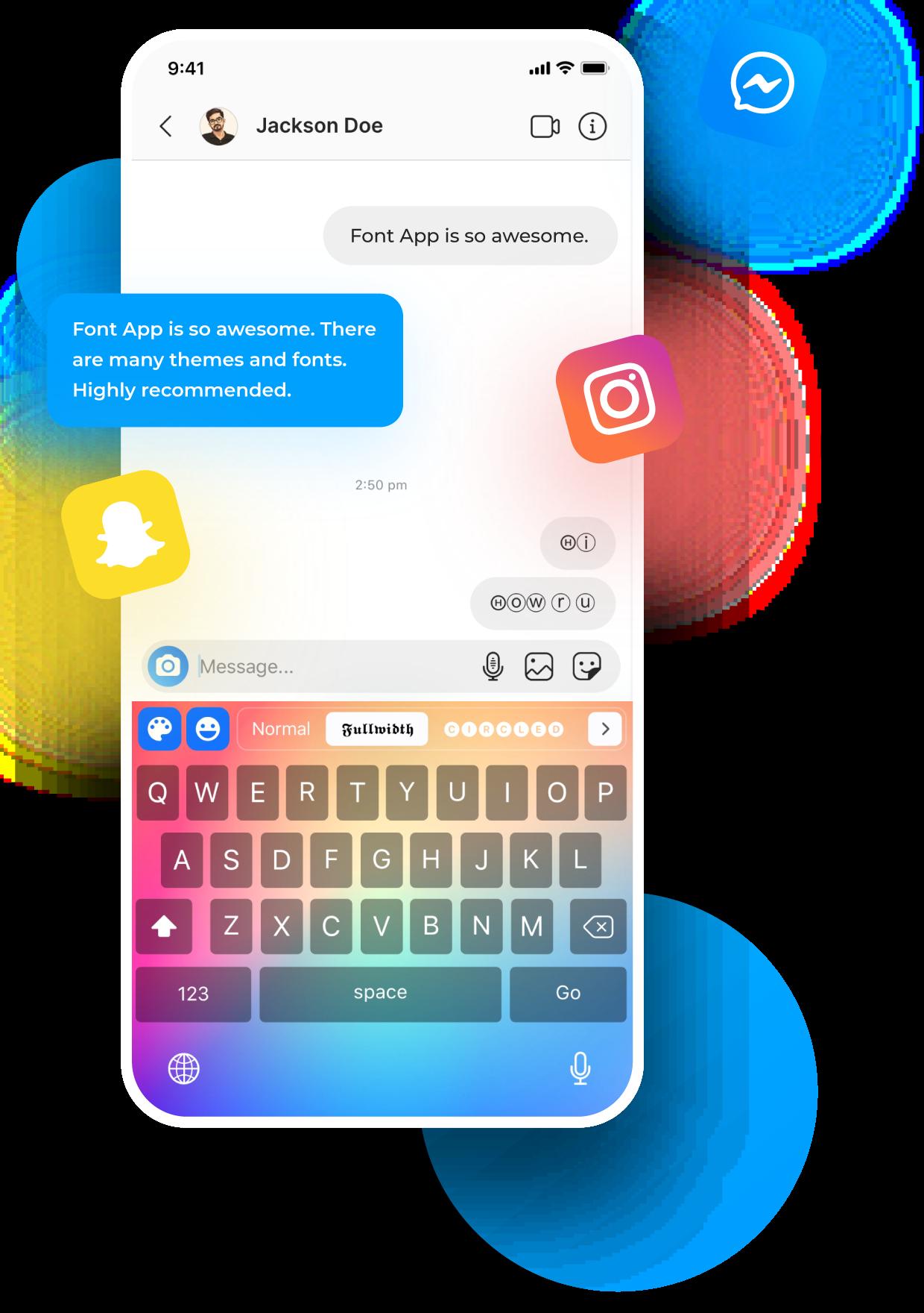 Symbol and emoji photo keyboard for iphone