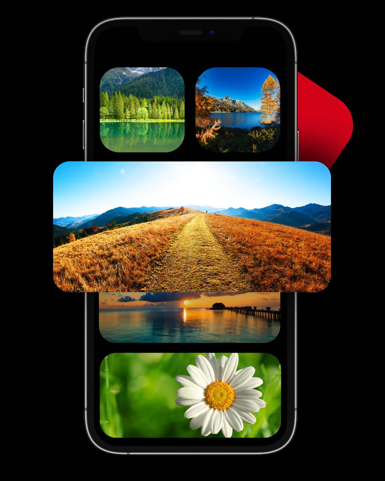 Wallpaper widget for iPhone