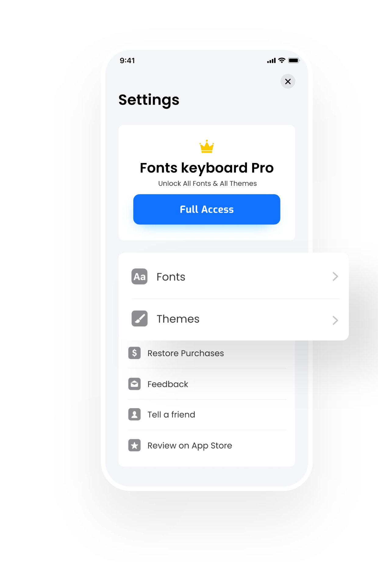Fonts & Keyboard for iPhones Premium Features