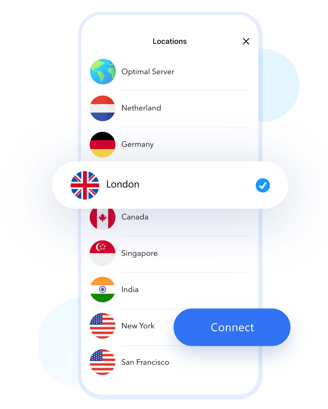 One-touch vpn connection for iPhone