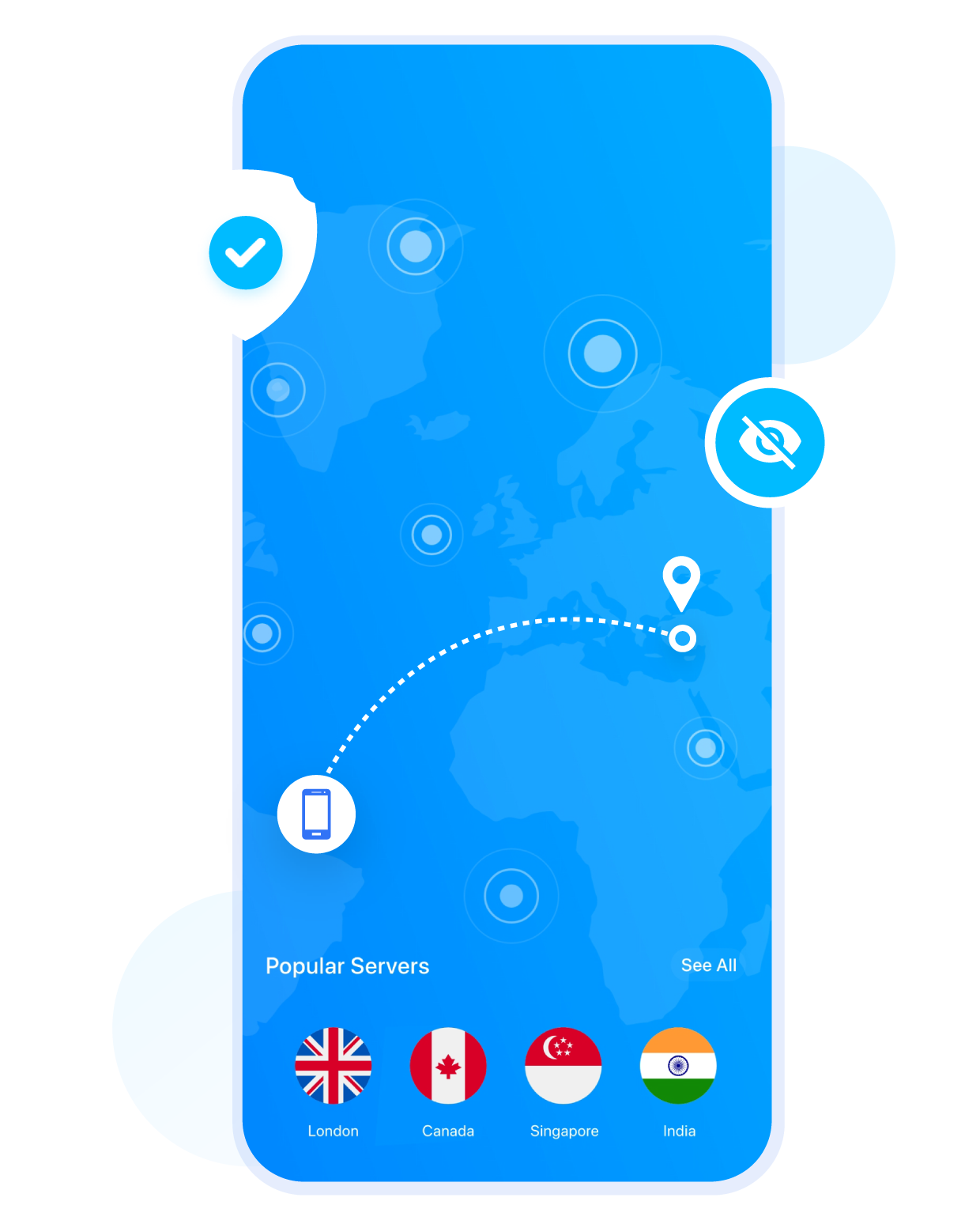 Hide IP and Location with VPN for iPhone & iPad