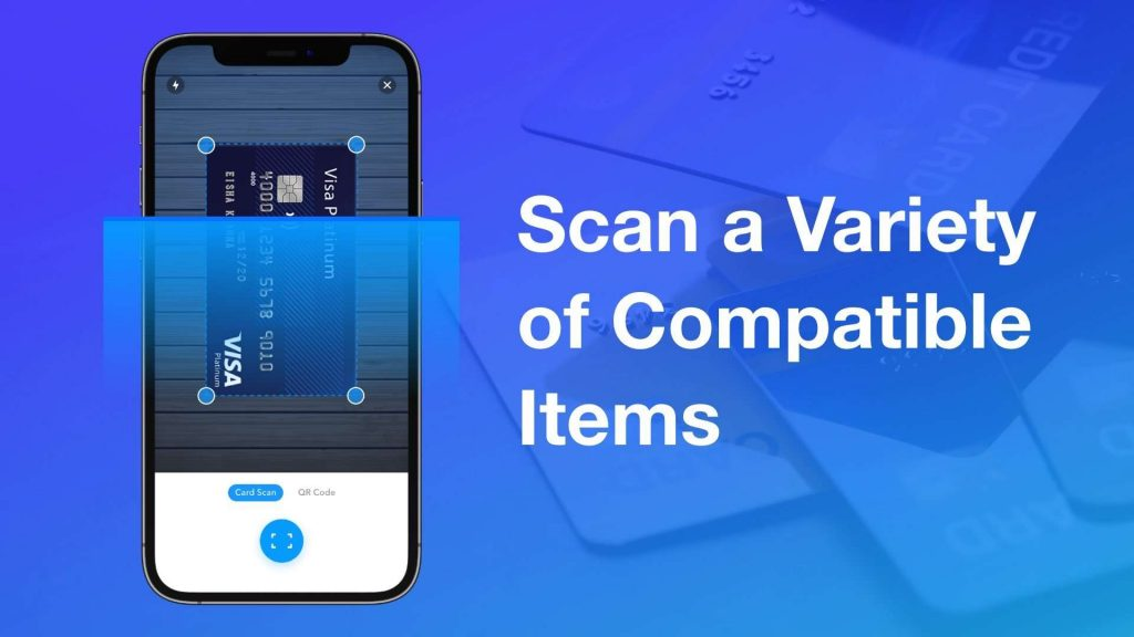 Scan a variety of compatible items