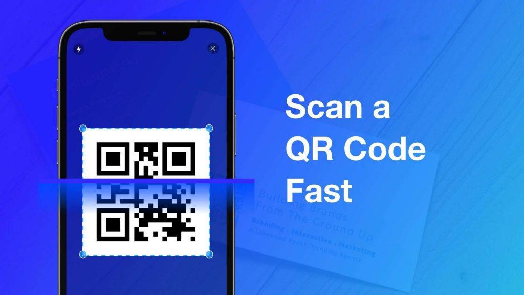 Scan a QR code fast