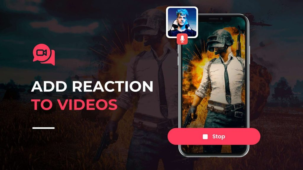 add a reaction to videos