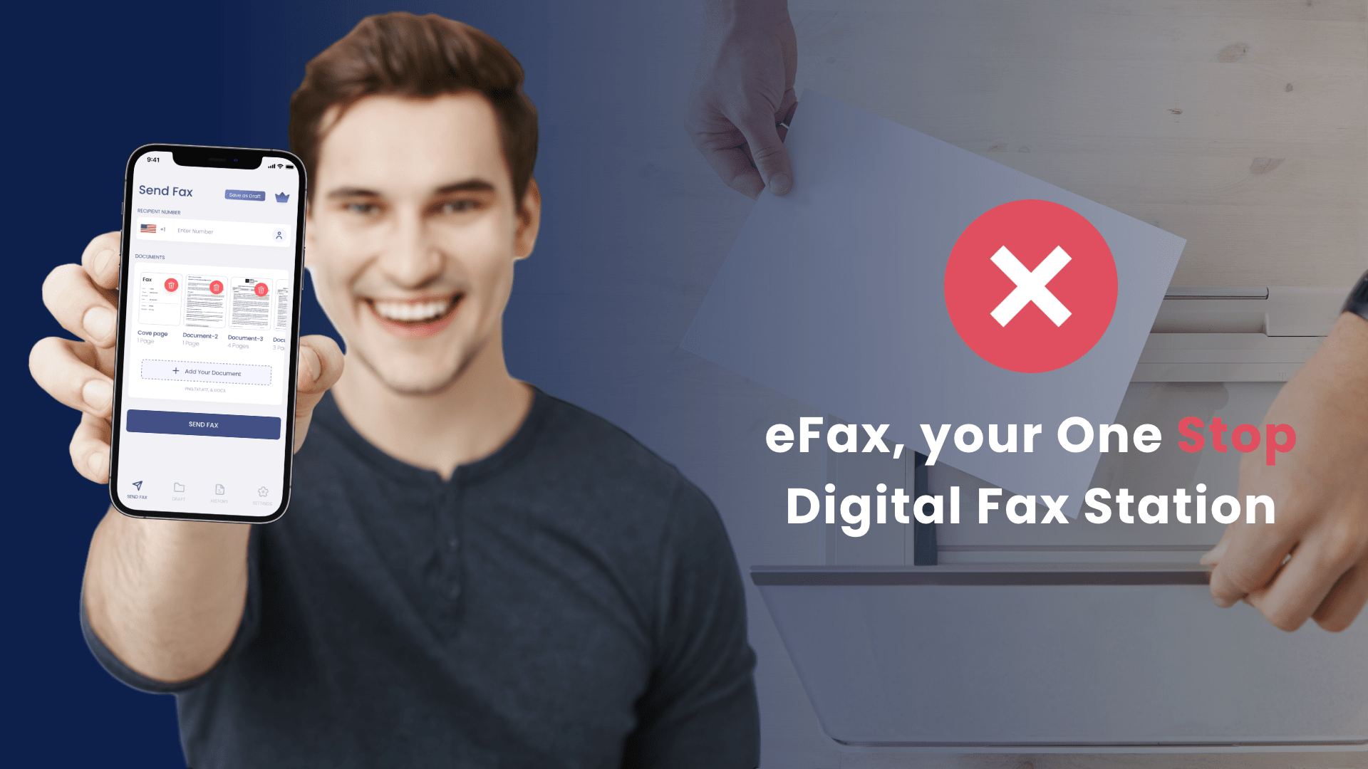 One-stop app solution for sending fax