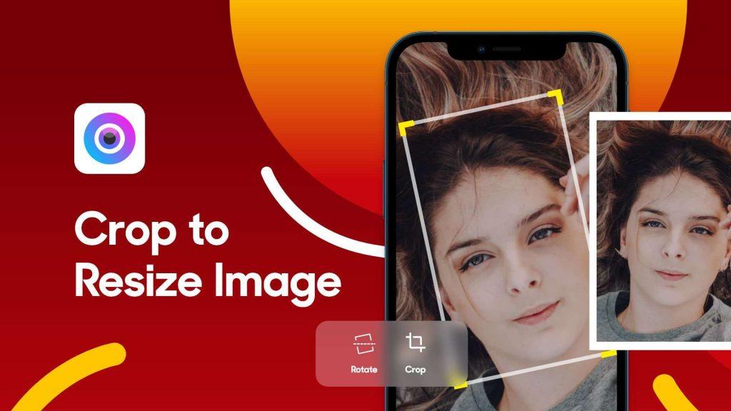 crop image & rotate