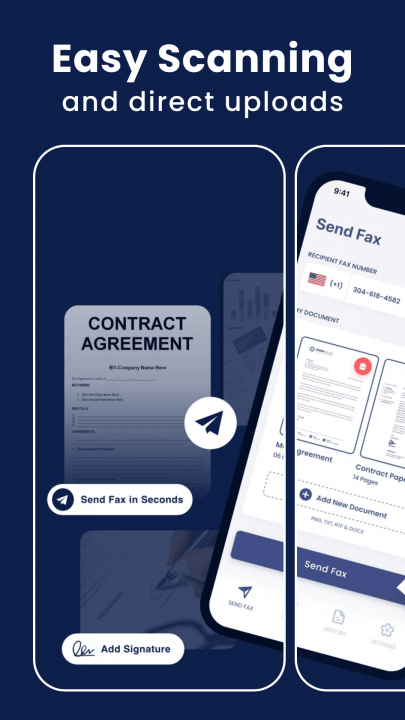 Sending online fax easily