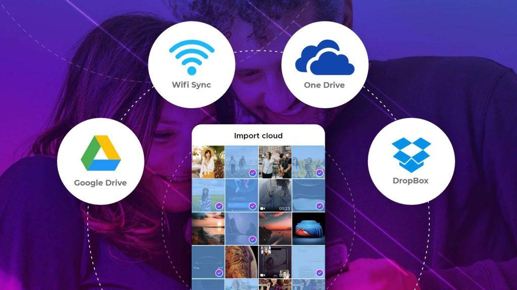 photo vault feature of cloud import