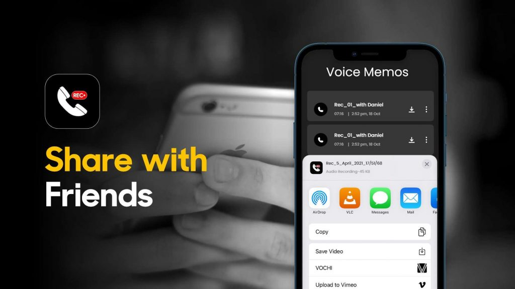 share recordings with friends