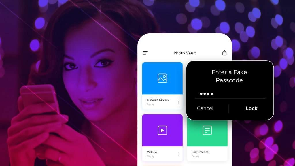 fake passcode feature of photo vault app for iPhone