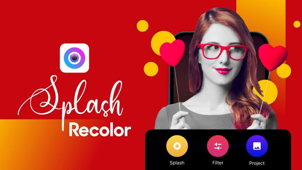 recolor & color splash effects of photo editor for iPhone