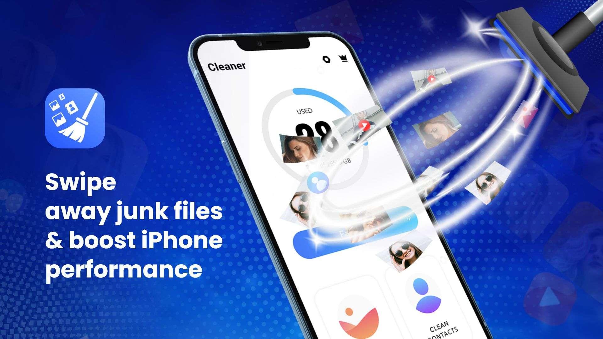 swipe away junk files & boost iPhone performance