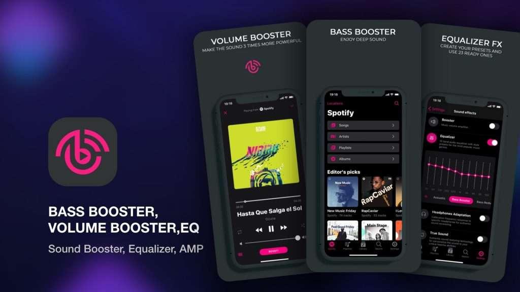 Bass Booster, Volume Booster, EQ