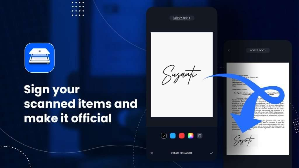 Sign your scanned items and make it official