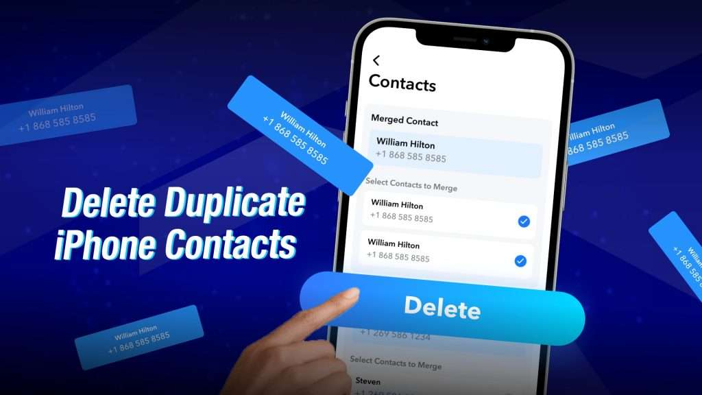 duplicate contacts iPhone