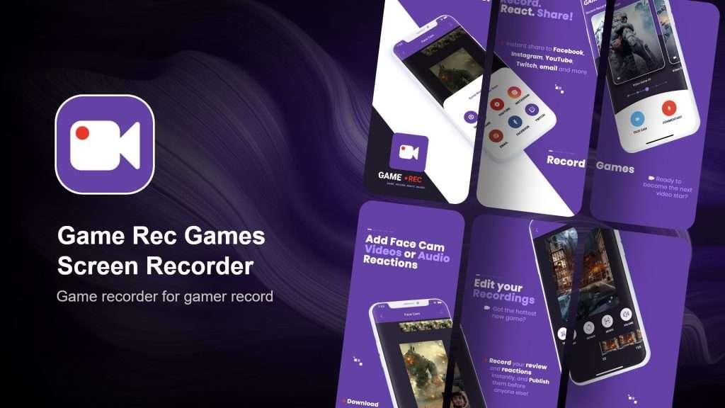 Game Rec Games Screen Recorder