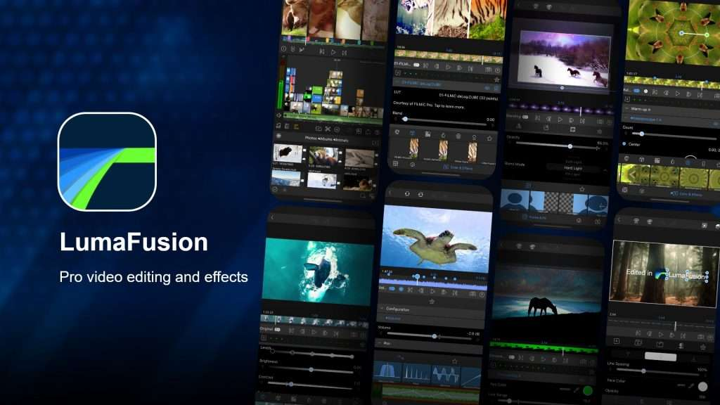 LumaFusion video editing app