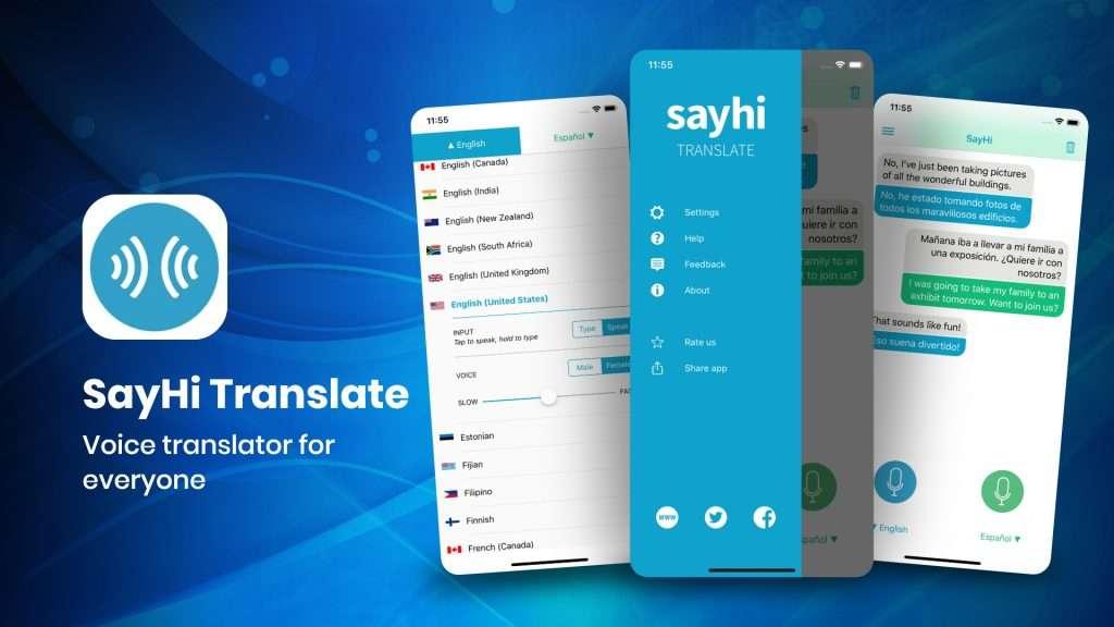SayHi Translate - best translation app for iPhone