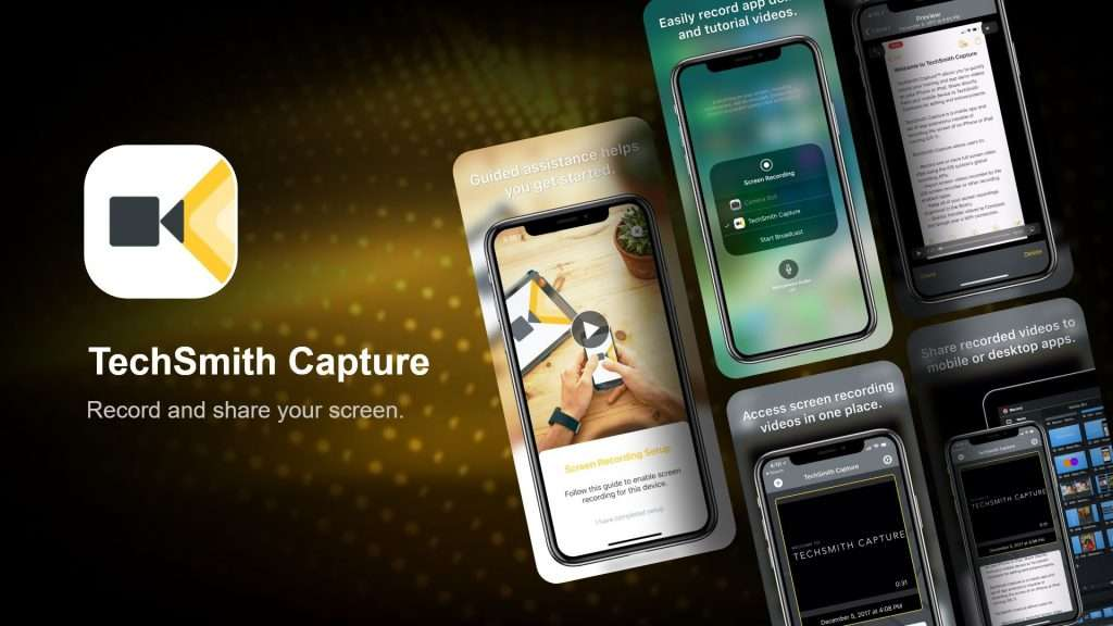 TechSmith Capture iPhone screen