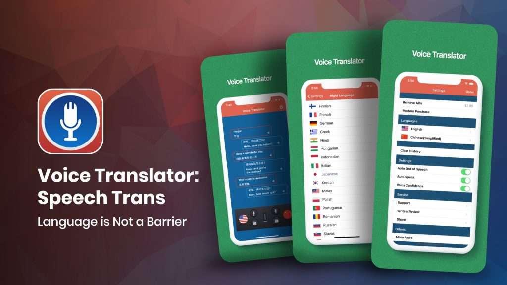 Voice translator app