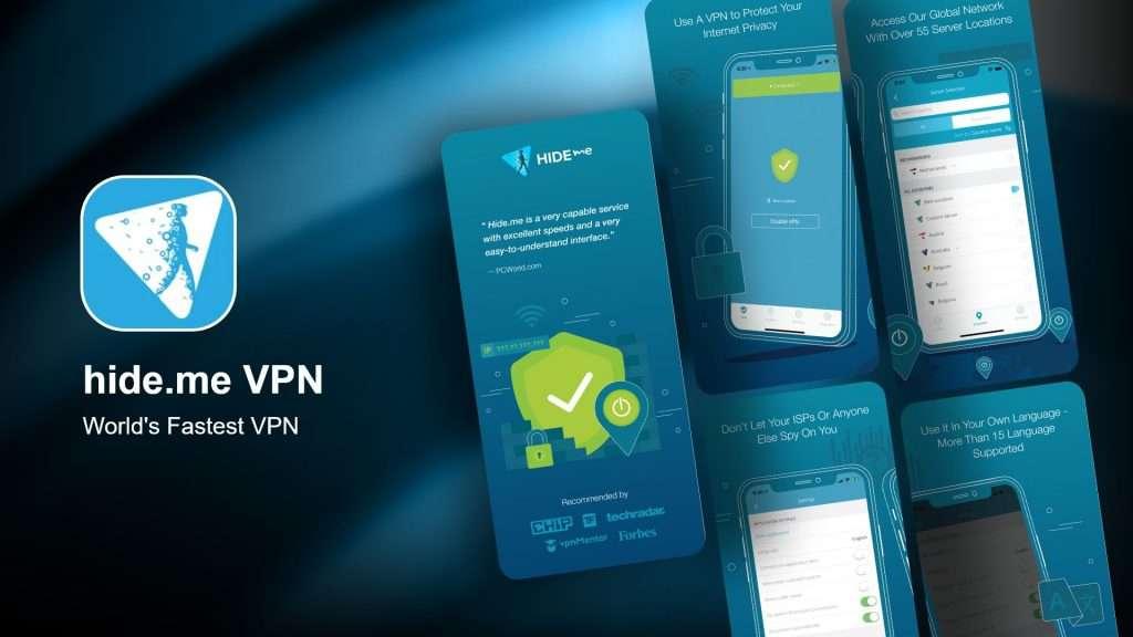 hide.me VPN app for iPhone