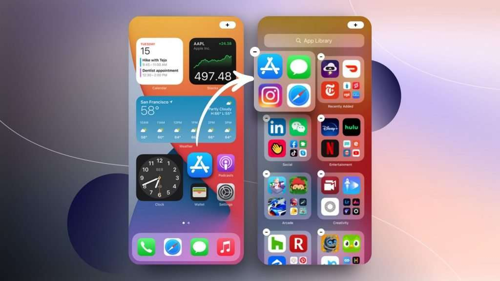 how to edit home screen on ios 14| smart stack