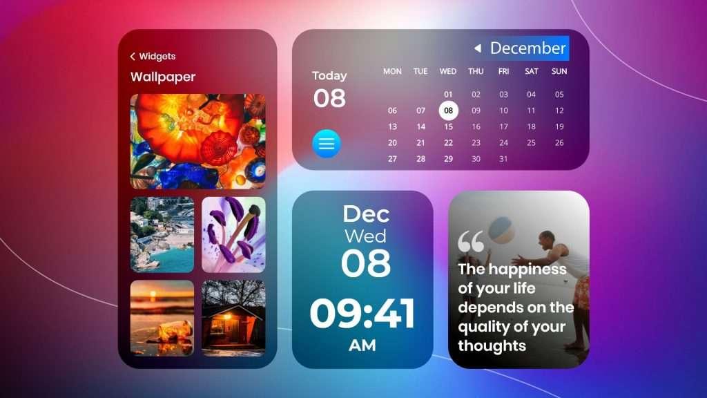 iPhone widget ideas | wallpaper, calendar, clock, and Quote widget