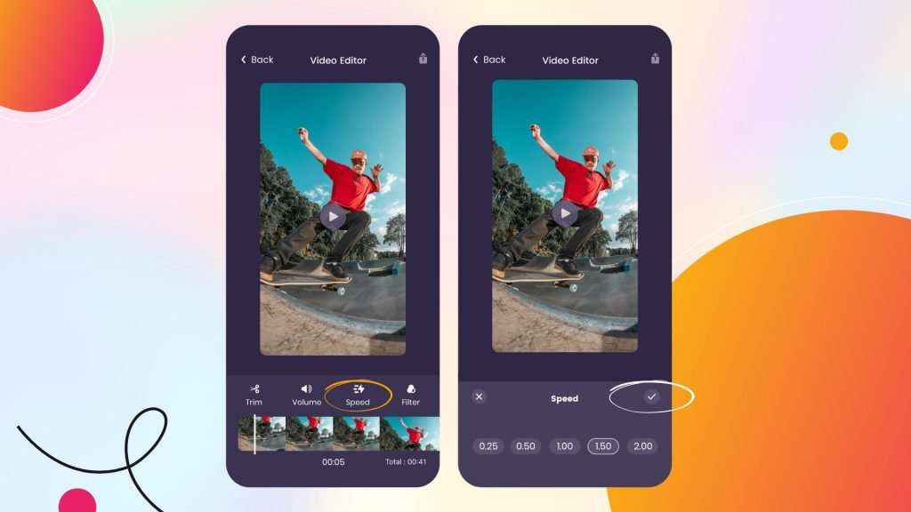 Adjust playback speed of your video on iPhone