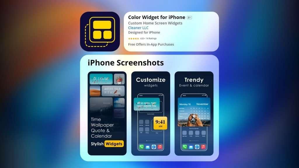 Color Widget app