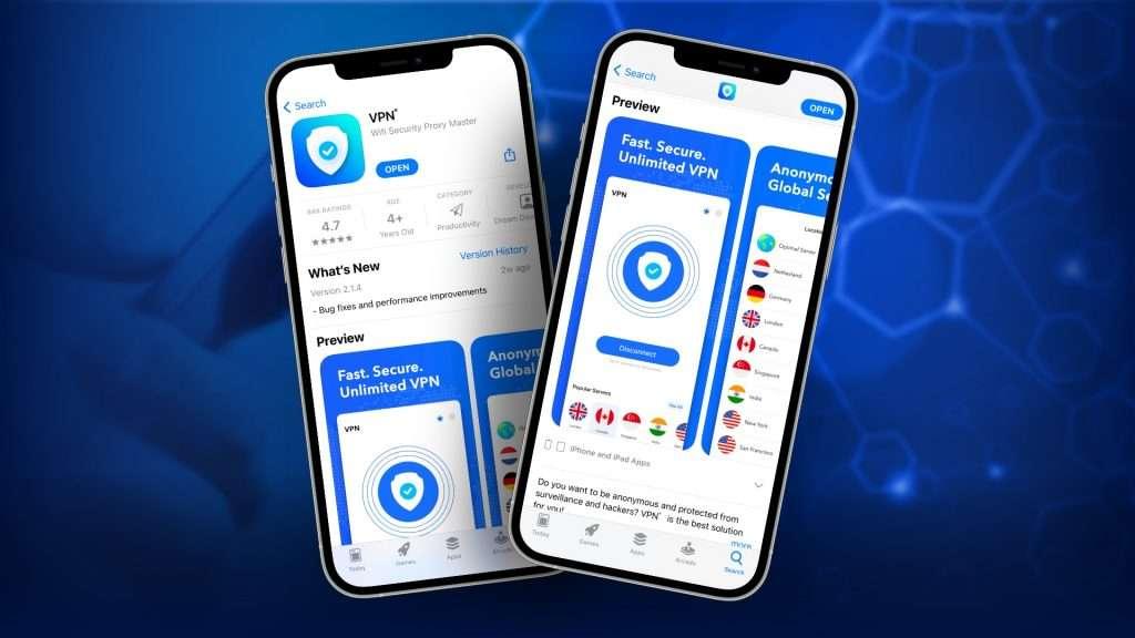 Download VPN app from App Store to change your IP