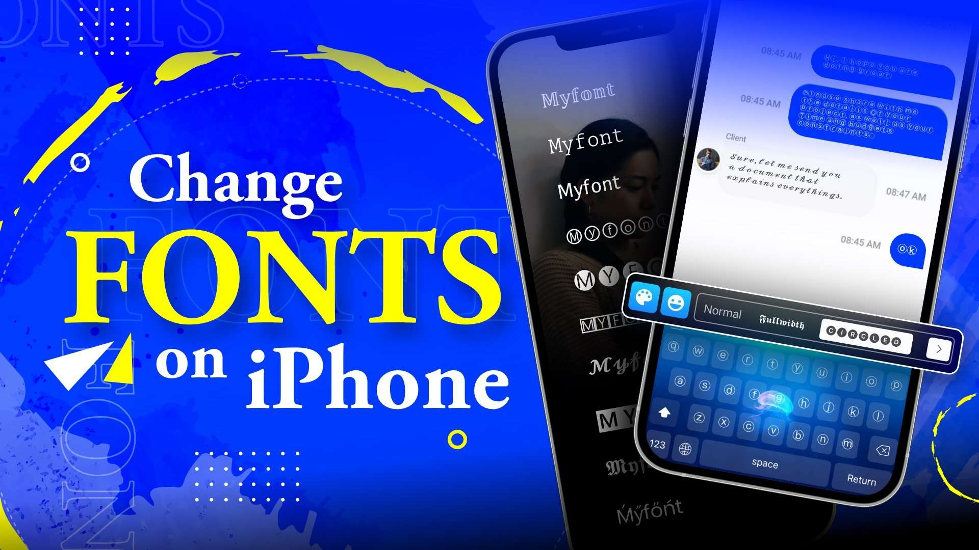 How to change font on iPhone
