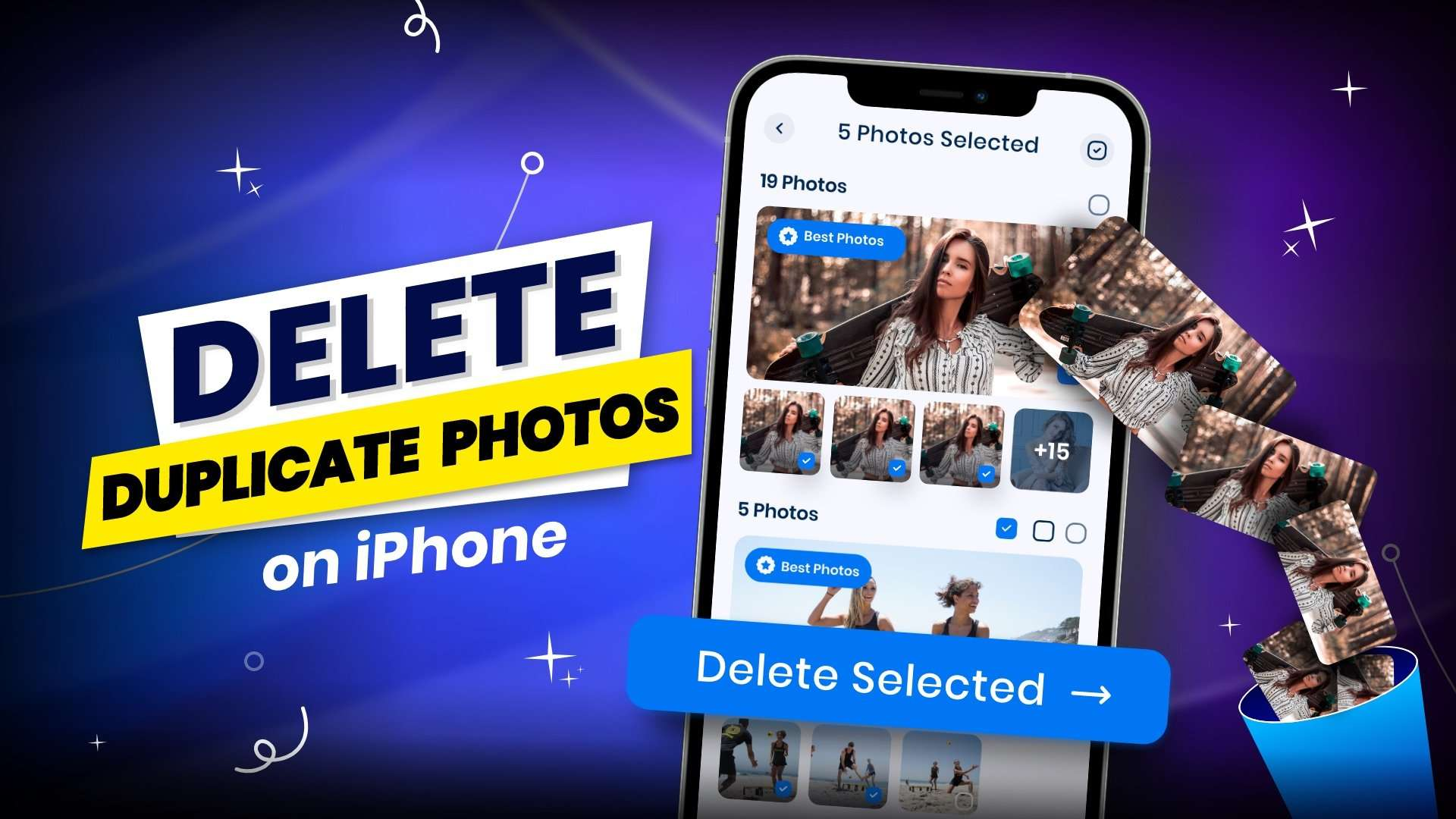 How to delete duplicate photos on iPhone