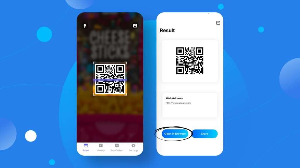 How to scan a QR code or barcode on iPhone with the QR reader app