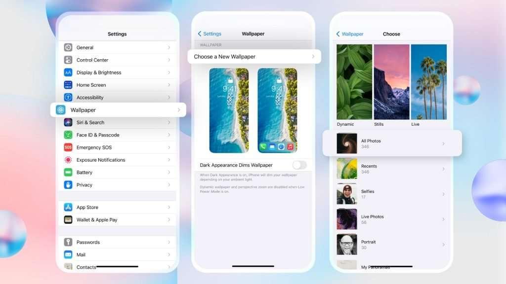 Set your selected custom wallpaper 01