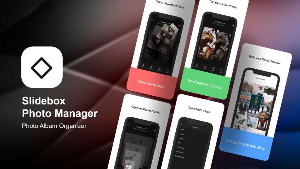 Slidebox provide a smart cleaning option as an album cleaner app