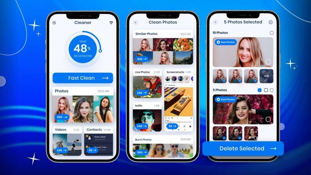 Steps to delete duplicate photos with the Cleaner app 01