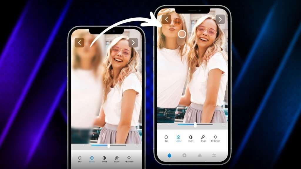 how to unblur a photo on iPhone