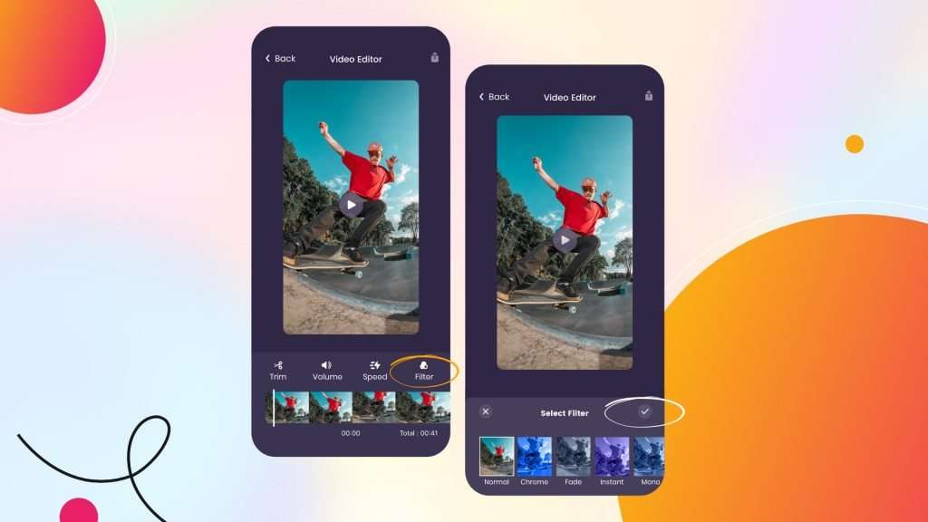 add a filter to your video on iPhone