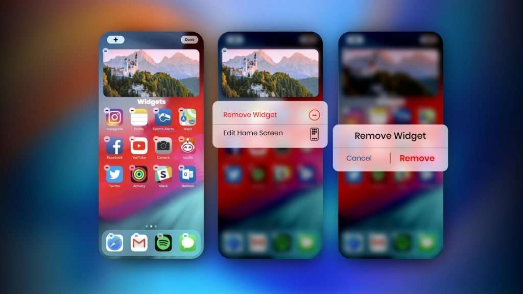 how to remove widgets from iPhone home screen