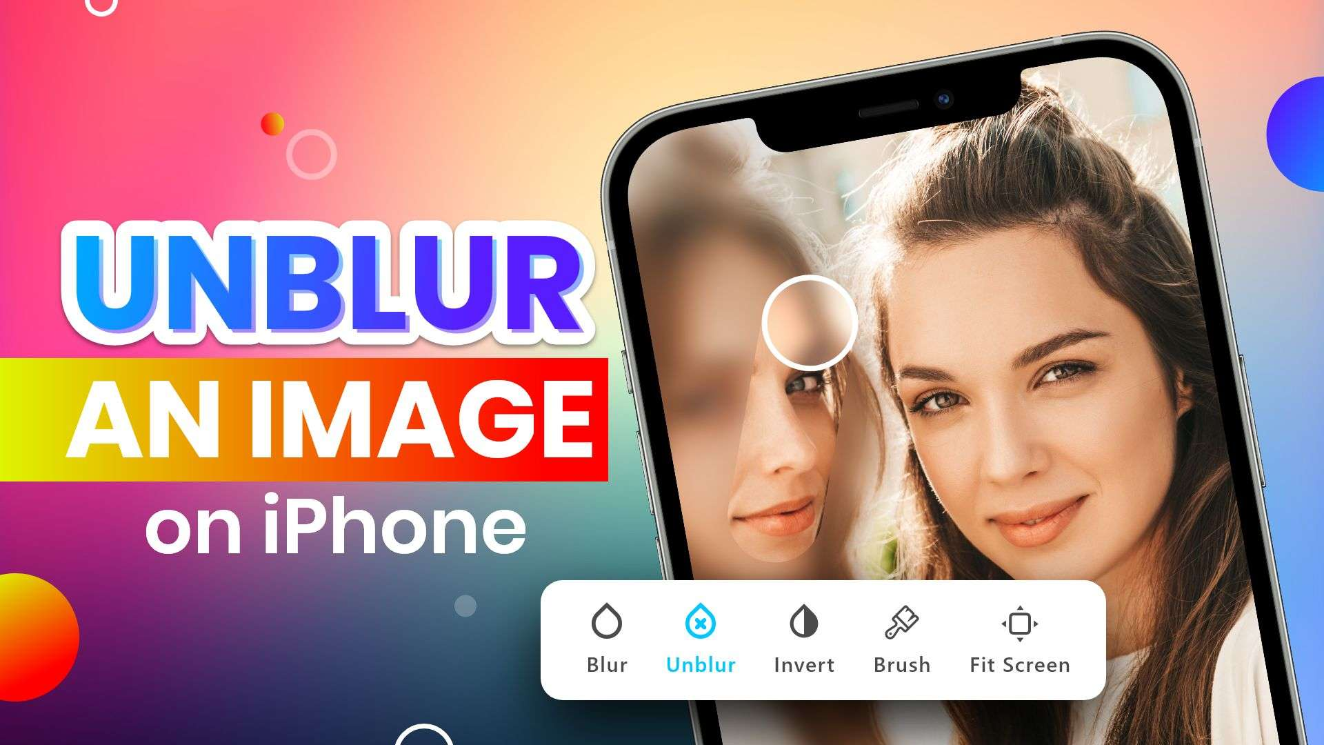 how to unblur an image on iPhone