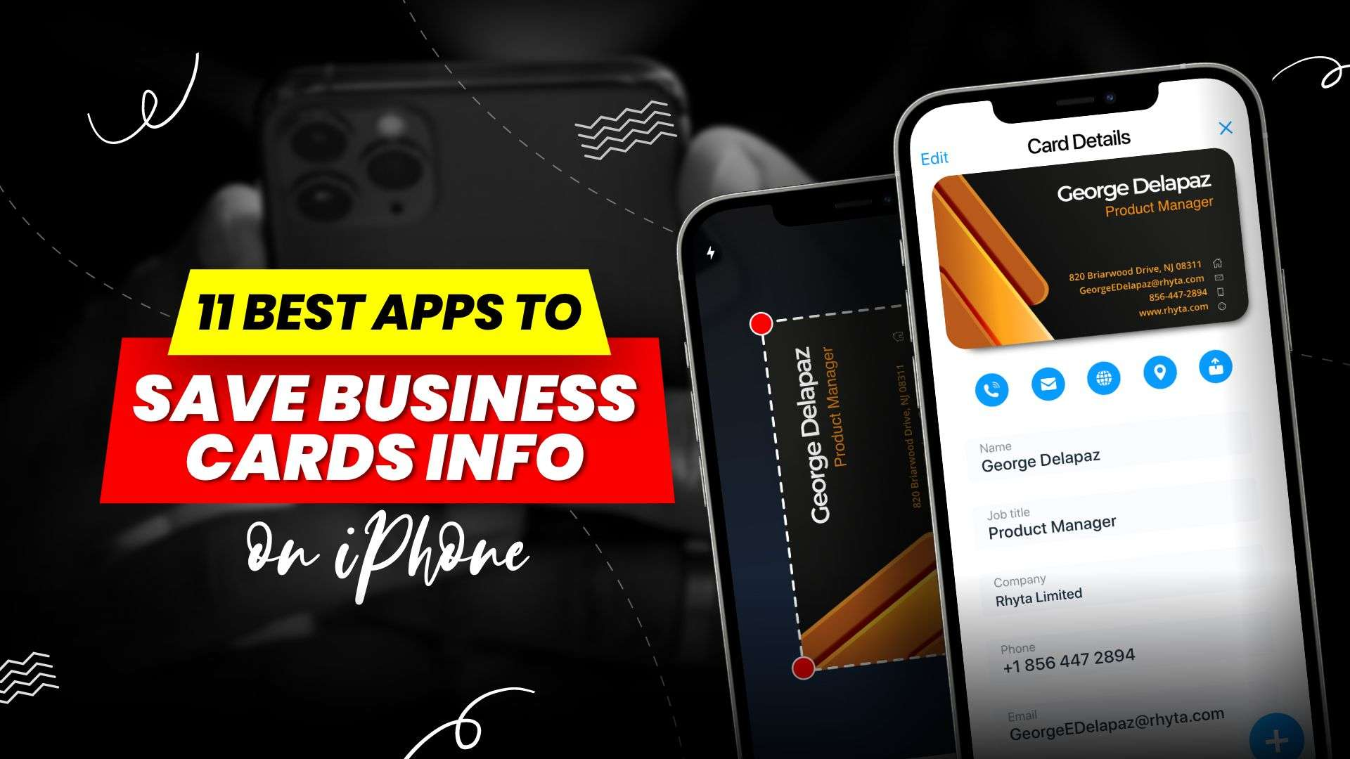 11 Best apps to save business cards info on iPhone