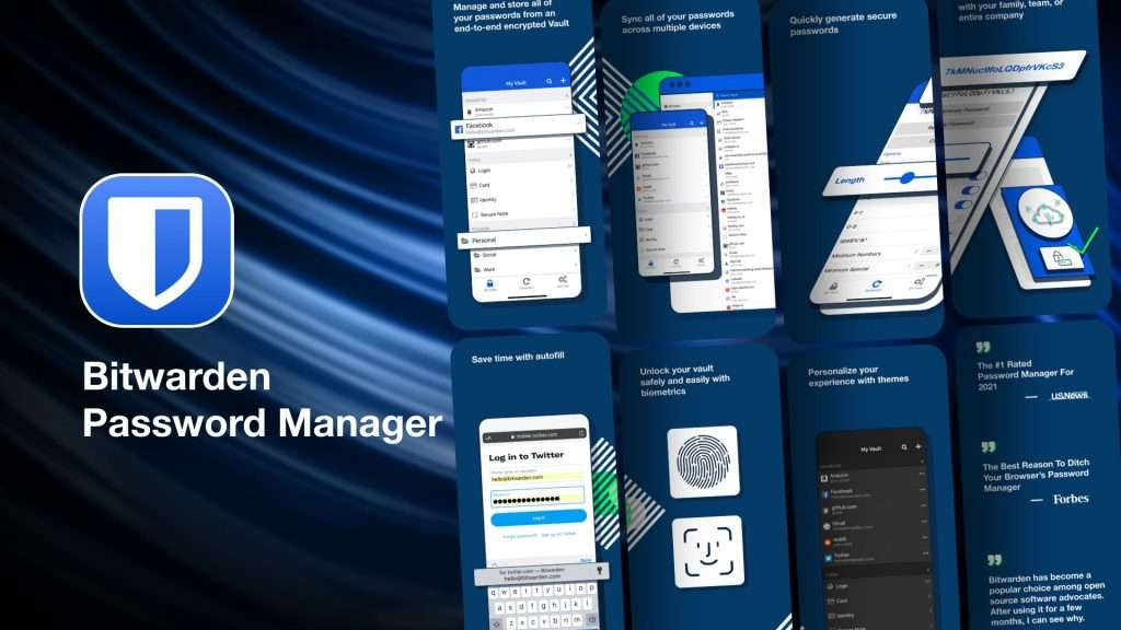 Bitwarden Password Manager app for iPhone