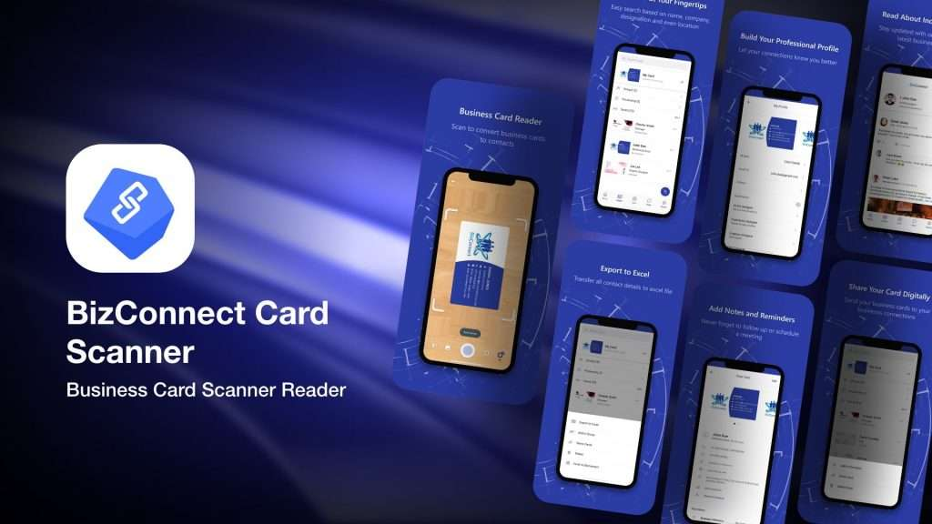 BizConnect Card Scanner-app to save business cards info on iPhone