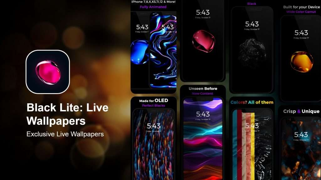 Black Lite Live Wallpapers app
