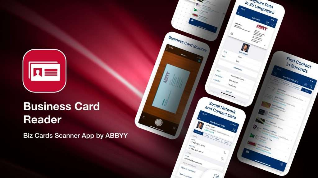Business Card Reader-apps to save business cards info on iPhone