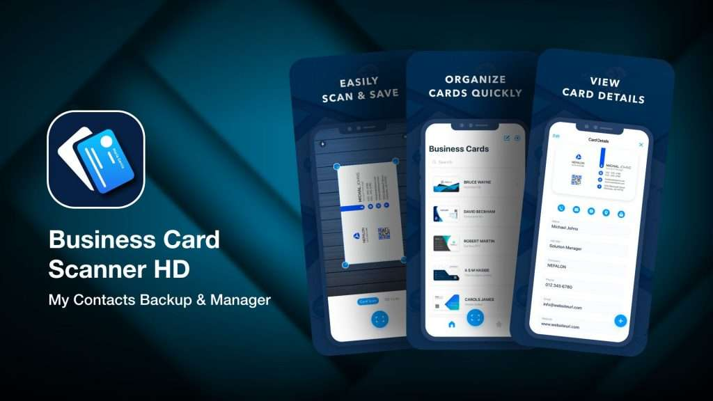 Business Card Scanner HD-app to save business cards info on iPhone