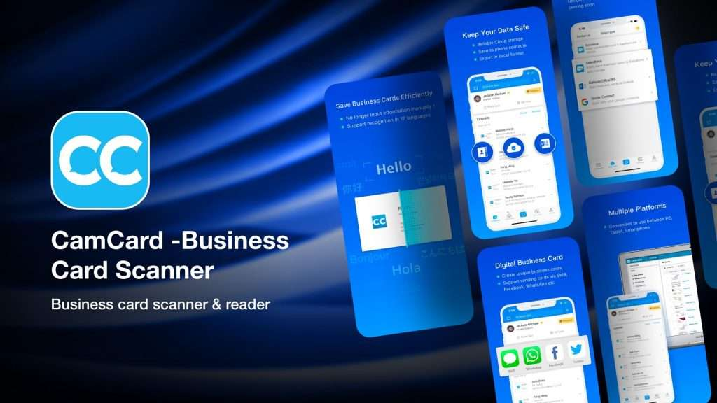 CamCard -Business Card Scanner-apps to save business card info on iPhone